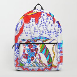 The croc, owls and friends Backpack