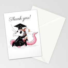 Plague Rat Grad (Thank You Card) Stationery Cards