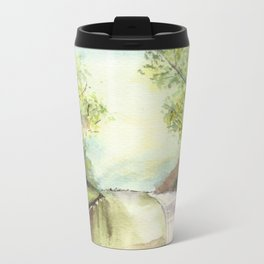 Trees by the canal Metal Travel Mug