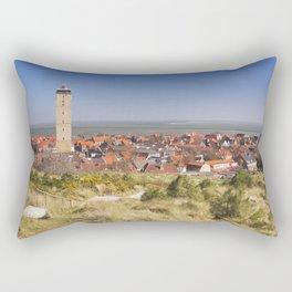 West-Terschelling and Brandaris lighthouse on Terschelling island, The Netherlands Rectangular Pillow