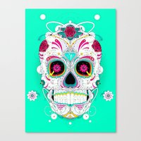 calavera Canvas Prints featuring Calavera by yoaz