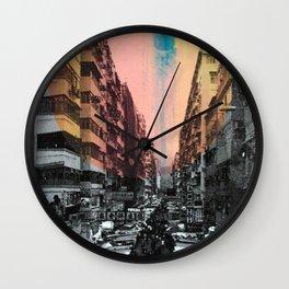 One night in Hong Kong Wall Clock