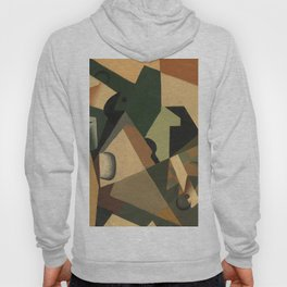 "Juan Gris ""Glass and Checkerboard"" Hoody"