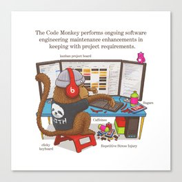 The Code Monkey Canvas Print