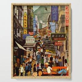 Vintage Hong Kong Travel Poster Serving Tray