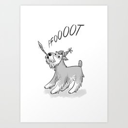 Cute Party Schnauzer, Dog Print! Art Print