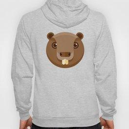Cute Beaver Character Hoody