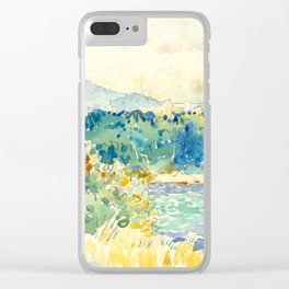 "Henri-Edmond Cross ""Mediterranean Landscape with a White House"" Clear iPhone Case"