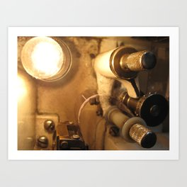 Inside a Film Projector Art Print