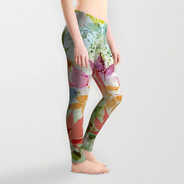 Fall impression, digital water colour art Leggings