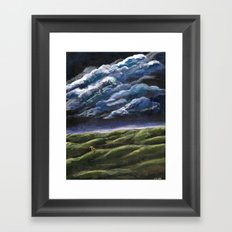 Small Dog, Big Sky Framed Art Print