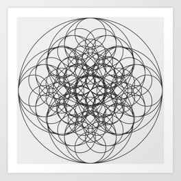 Circle Splendor 5 Art Print