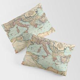 Vintage Map of The Roman Empire (1889) Pillow Sham