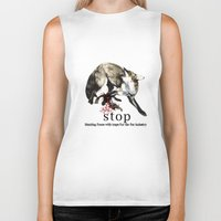 hunting Biker Tanks featuring Hunting foxes by Design4u Studio