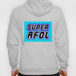 SUPER AFOL in Brick Font Logo Design [Alternate Colors] by Chillee Wilson Hoody