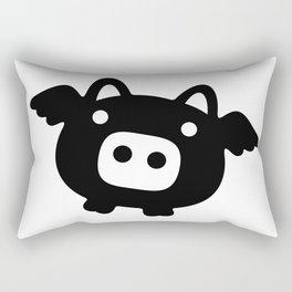 Pigs Will Fly (b&w) Rectangular Pillow