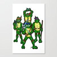 teenage mutant ninja turtles Canvas Prints featuring Teenage Mutant Ninja Turtles by beetoons
