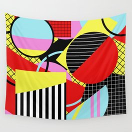 Retro Geometry - Geometric, abstract, bold design Wall Tapestry