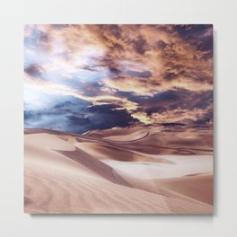 Golden Sand And Clouds Metal Print