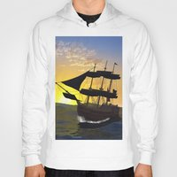 pirate ship Hoodies featuring Pirate ship  by nicky2342