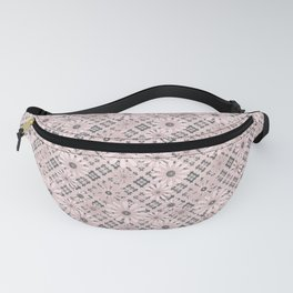 Pink floral plaid Fanny Pack