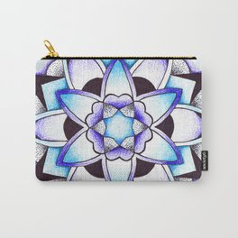 Violet Mandala Carry-All Pouch