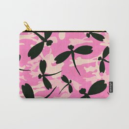 Pink Camouflage Dragonflies Carry-All Pouch