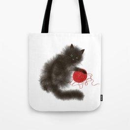 Mischievous cat Tote Bag