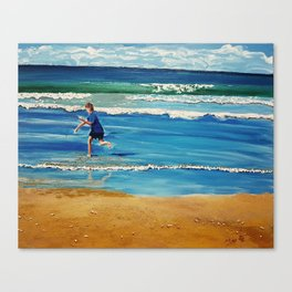 You throw the sand against the wind Canvas Print