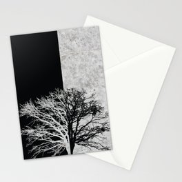 Natural Outlines - Oak Tree Black & Concrete #402 Stationery Cards