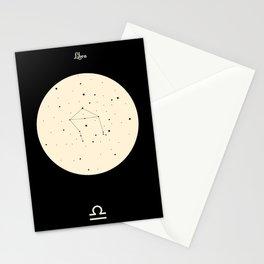 Libra - Black Stationery Cards