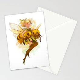 Fairy with two bees Stationery Cards