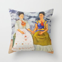 Two fridas art Throw Pillow