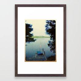Evening on Lake Framed Art Print