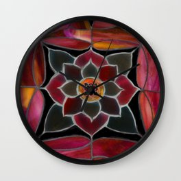 Water lily in pink Wall Clock