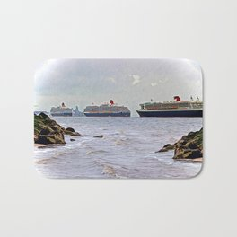 Three Queens on the River Bath Mat