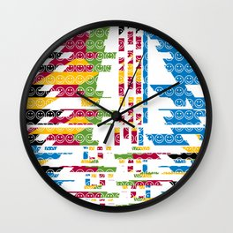 risa  fragmentada Wall Clock