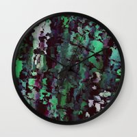 acid Wall Clocks featuring Acid by MonsterBrown