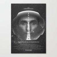 interstellar Canvas Prints featuring Interstellar  by Laura Racero