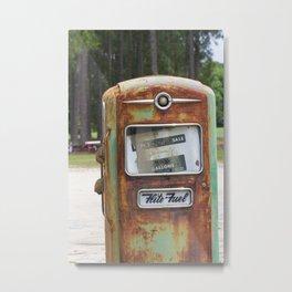 Vintage Gas Pump at Salemburg, North Carolina Cotton Gin Metal Print