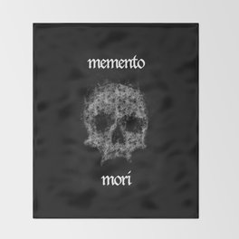 Memento Mori Skull by Brian Vegas Throw Blanket