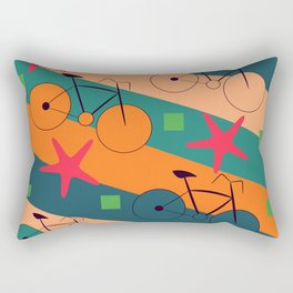 Bike routes Rectangular Pillow