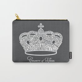 County of Kings | Brooklyn NYC Crown (WHITE) Carry-All Pouch