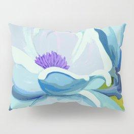 Blue Magnolia Pillow Sham