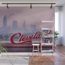 Homesick - Cleveland Skyline Wall Mural
