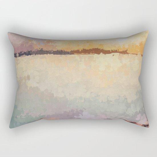SUNSET (oil landscape) Rectangular Pillow