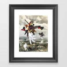 MINGA x Let There Be Light Framed Art Print