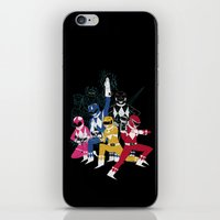 power rangers iPhone & iPod Skins featuring power glove rangers by Louis Roskosch