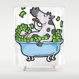 Cash Cow Rich Money Dollar Cash Hustle Manager Shower Curtain