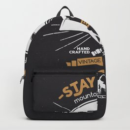 Stay Wild. Adventure Illustration Backpack
